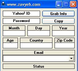 برنامه یی برای گرفتن اطلاعات اولیه آی دی یا میل